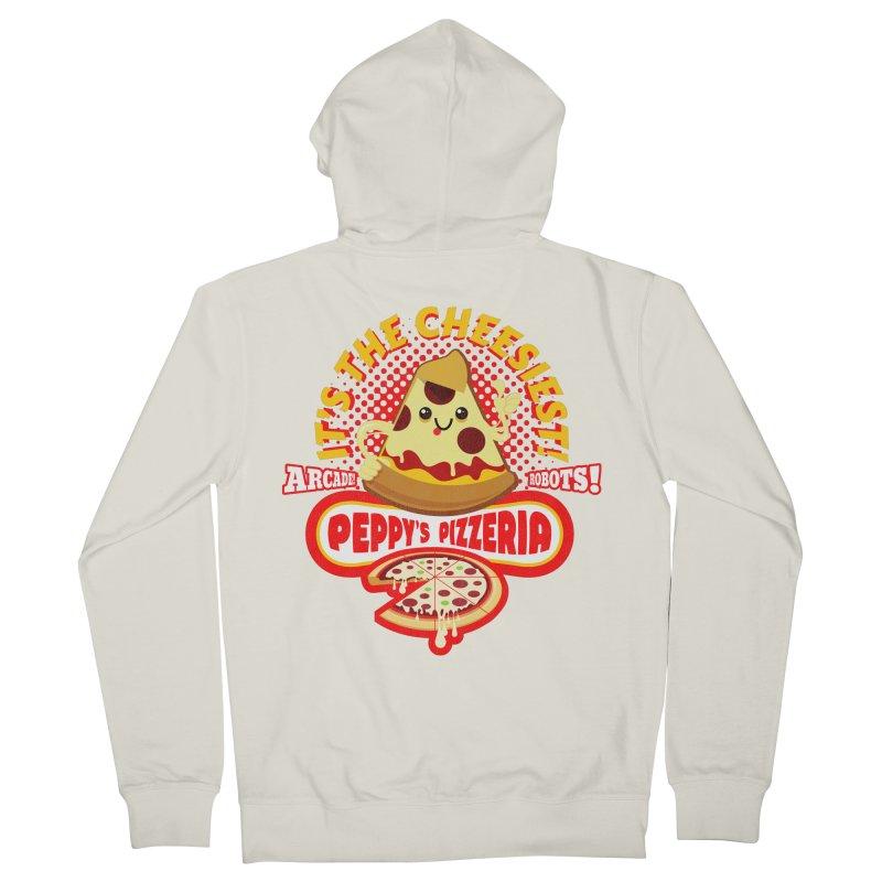 Peppy's Pizzeria Women's Zip-Up Hoody by devildino's Artist Shop