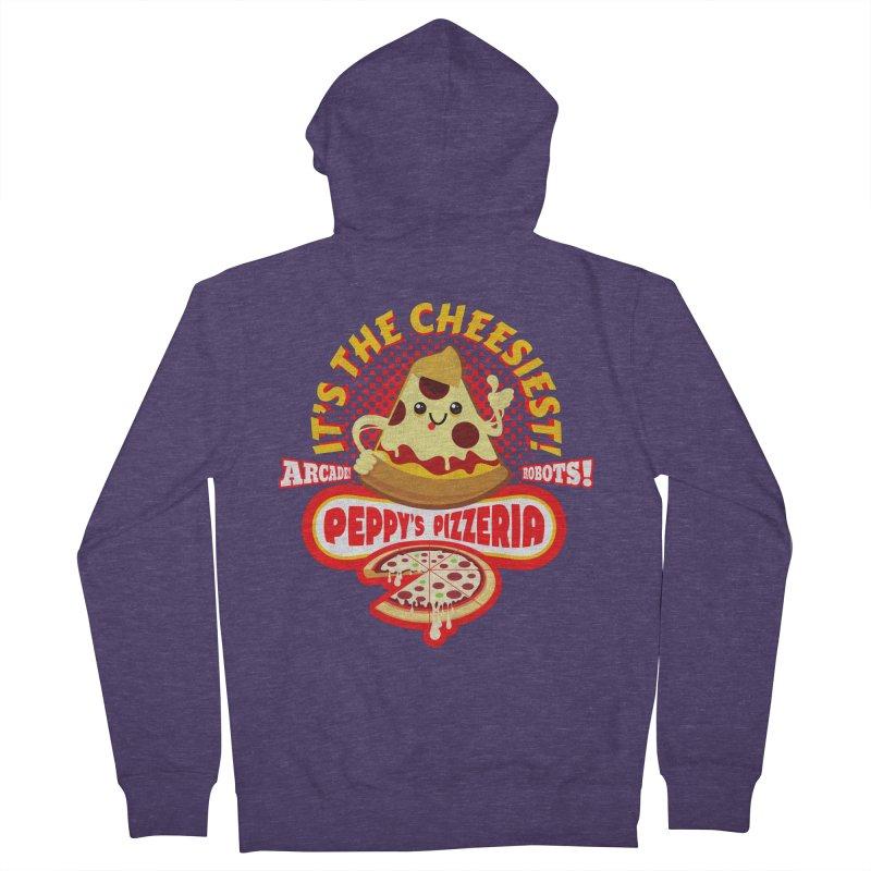 Peppy's Pizzeria Men's Zip-Up Hoody by devildino's Artist Shop