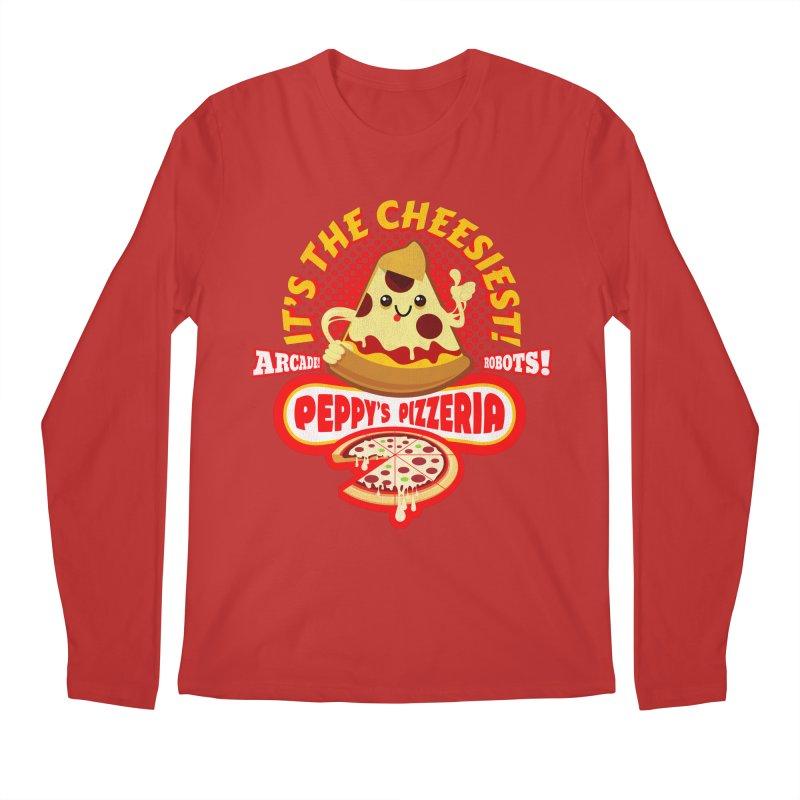 Peppy's Pizzeria Men's Longsleeve T-Shirt by devildino's Artist Shop
