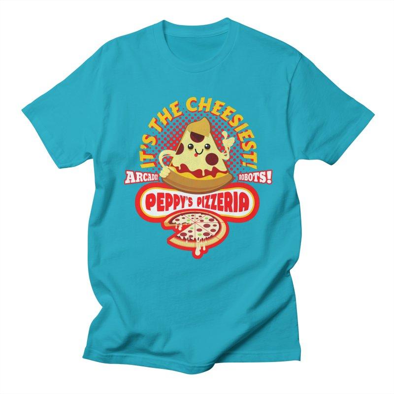 Peppy's Pizzeria Men's T-Shirt by devildino's Artist Shop