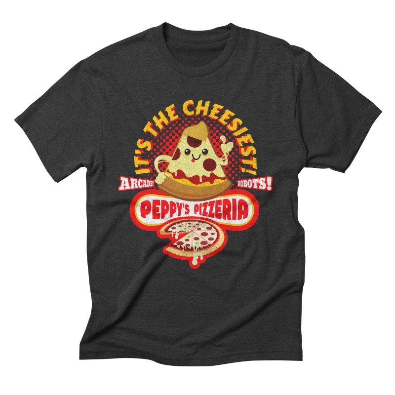 Peppy's Pizzeria Men's Triblend T-Shirt by devildino's Artist Shop