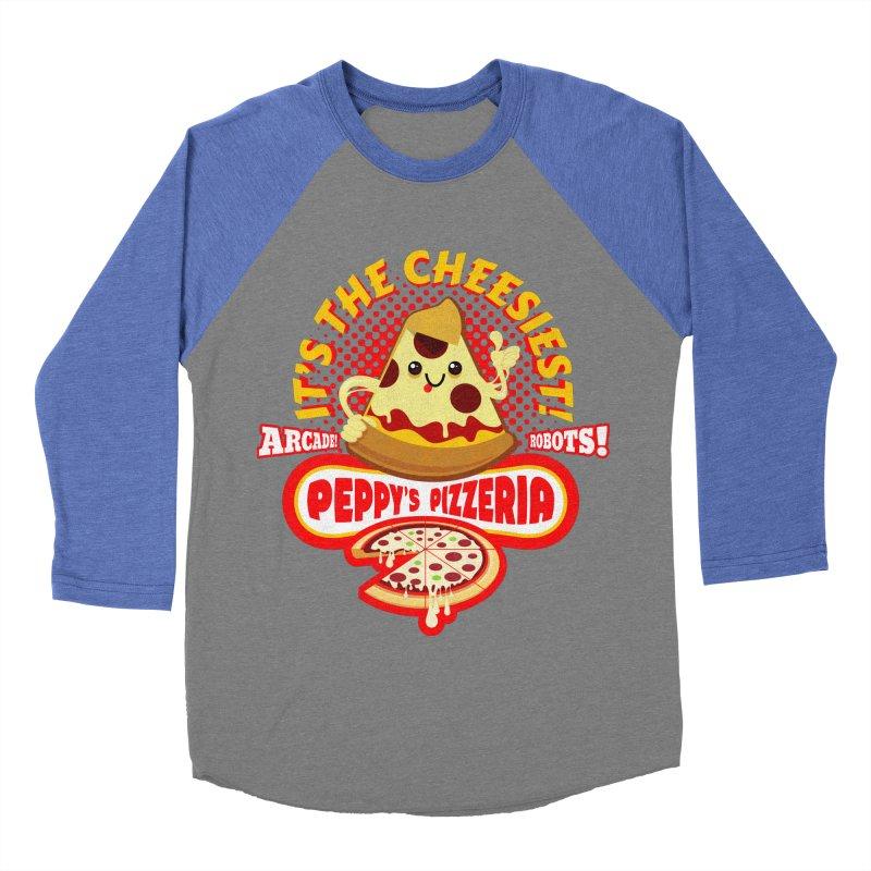Peppy's Pizzeria Women's Baseball Triblend T-Shirt by devildino's Artist Shop