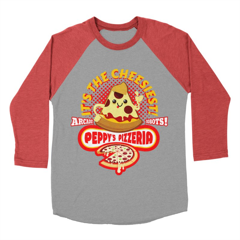 Peppy's Pizzeria Women's Baseball Triblend T-Shirt by devildino's Artist Shop