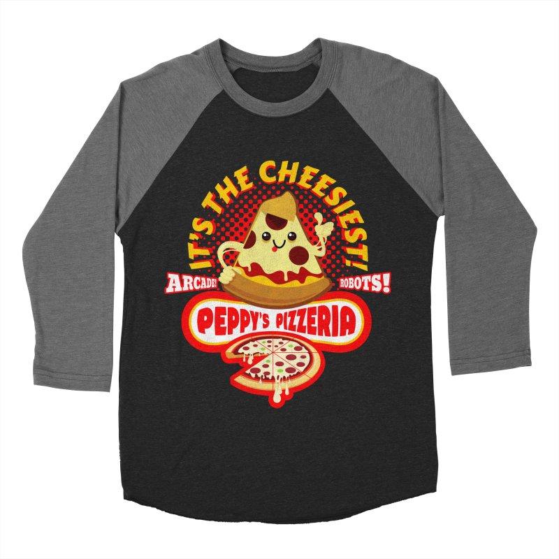 Peppy's Pizzeria Men's Baseball Triblend T-Shirt by devildino's Artist Shop
