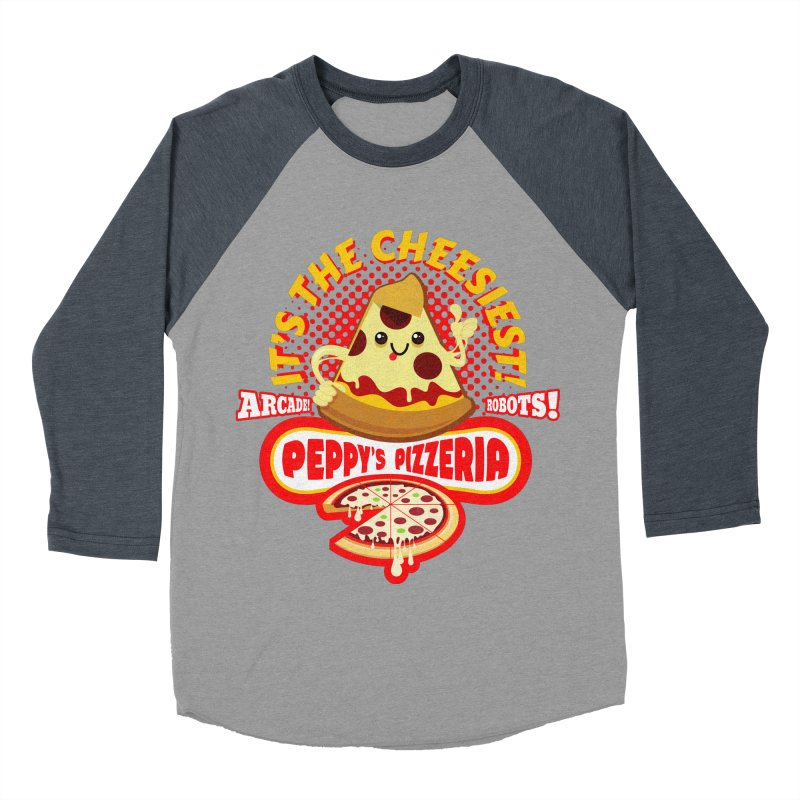 Peppy's Pizzeria Men's Baseball Triblend T-Shirt by devildino's Artist Shop