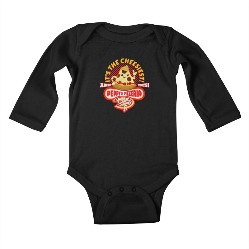 Peppy's Pizzeria Kids Baby Longsleeve Bodysuit by devildino's Artist Shop