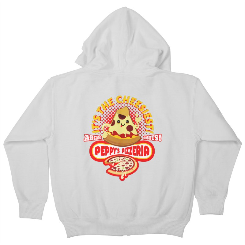 Peppy's Pizzeria Kids Zip-Up Hoody by devildino's Artist Shop