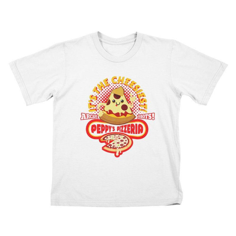 Peppy's Pizzeria Kids T-Shirt by devildino's Artist Shop