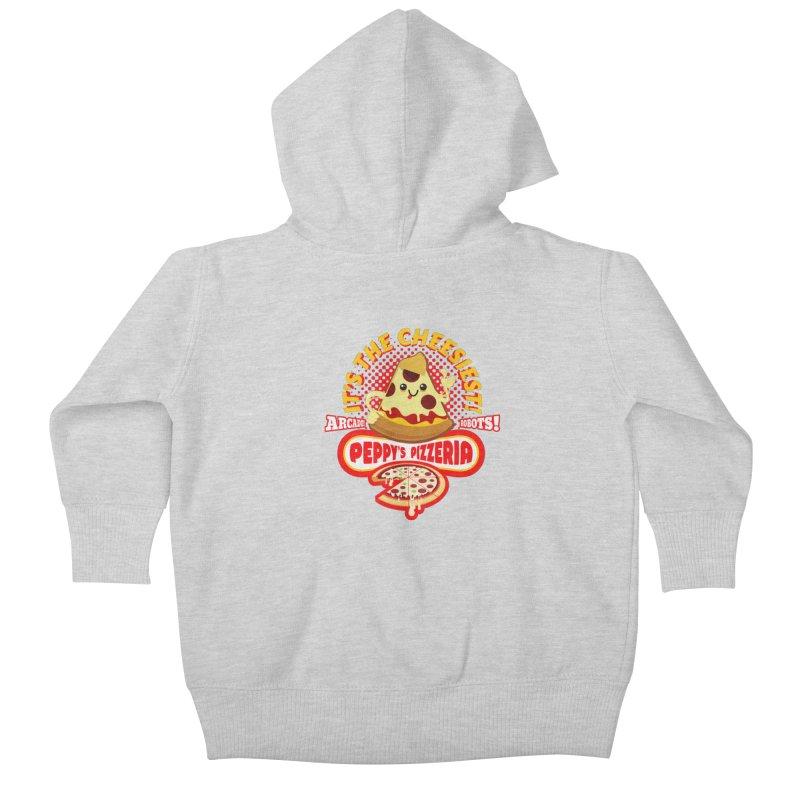 Peppy's Pizzeria Kids Baby Zip-Up Hoody by devildino's Artist Shop