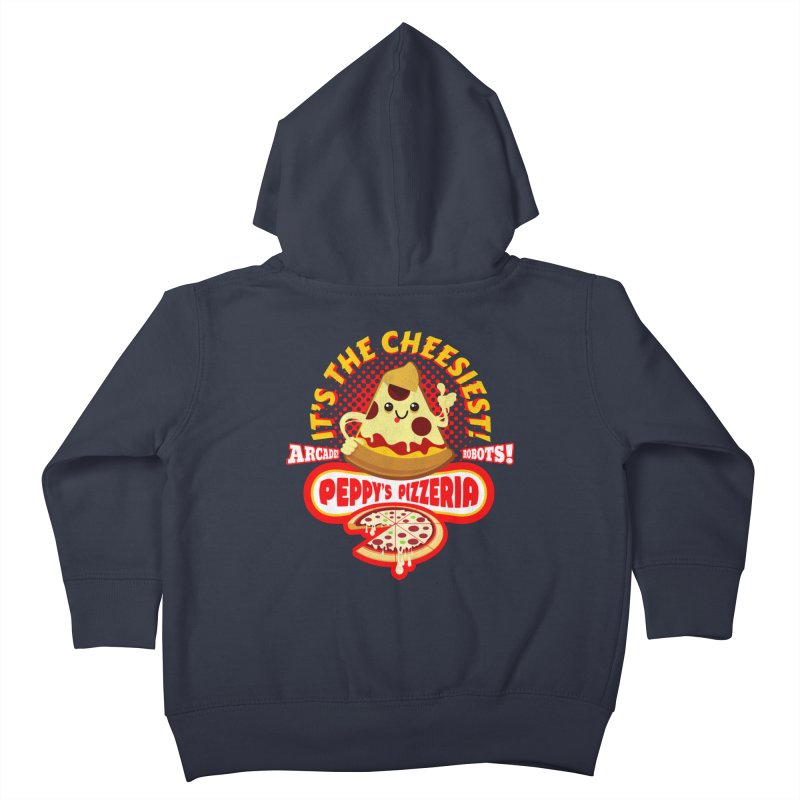 Peppy's Pizzeria Kids Toddler Zip-Up Hoody by devildino's Artist Shop