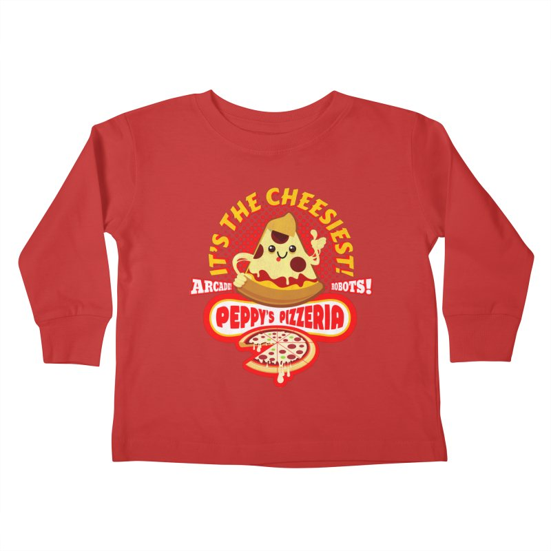 Peppy's Pizzeria Kids Toddler Longsleeve T-Shirt by devildino's Artist Shop