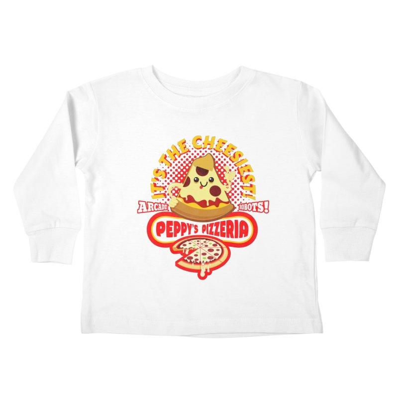 Peppy's Pizzeria Kids Toddler Longsleeve T-Shirt by devildino's Artist Shop