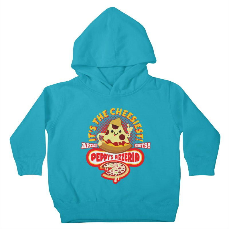 Peppy's Pizzeria Kids Toddler Pullover Hoody by devildino's Artist Shop