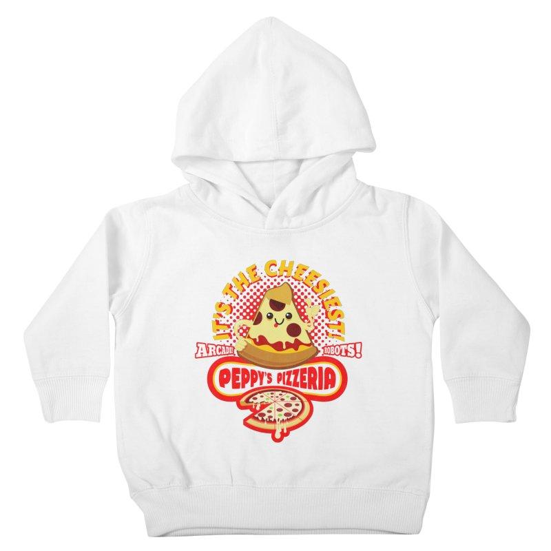 Peppy's Pizzeria Kids Toddler Pullover Hoody by devildino's Artist Shop