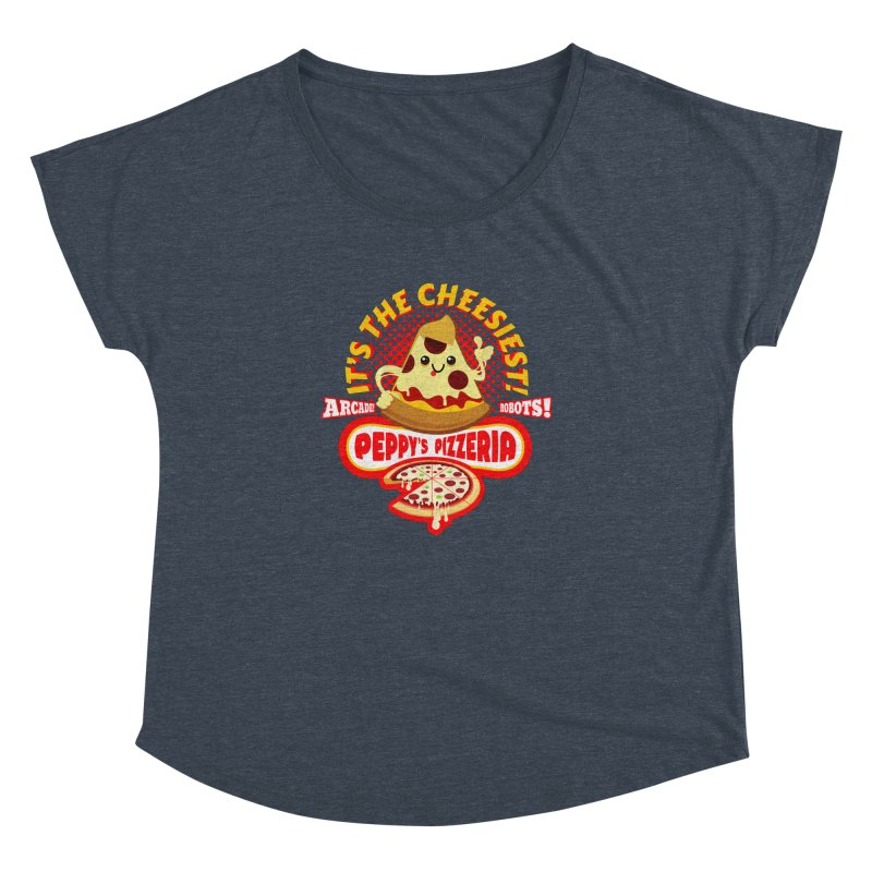 Peppy's Pizzeria Women's Dolman by devildino's Artist Shop