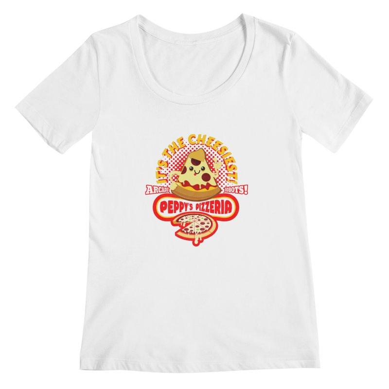 Peppy's Pizzeria Women's Scoopneck by devildino's Artist Shop