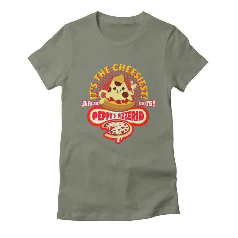 Peppy's Pizzeria Women's Fitted T-Shirt by devildino's Artist Shop
