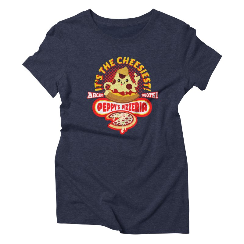Peppy's Pizzeria Women's Triblend T-Shirt by devildino's Artist Shop