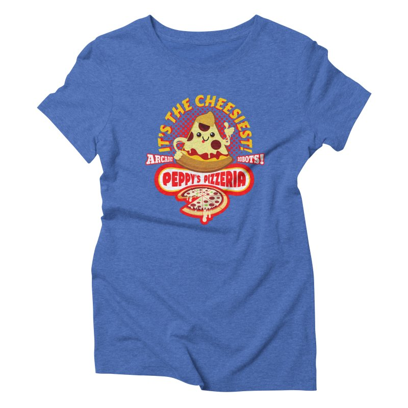Peppy's Pizzeria Women's Triblend T-Shirt by devildino's Artist Shop