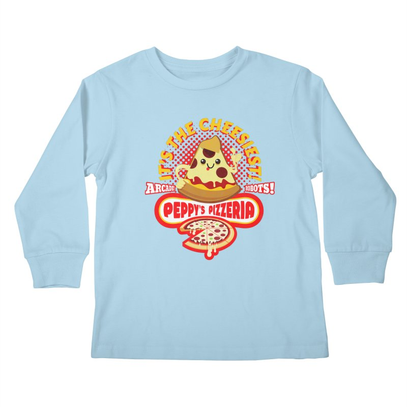 Peppy's Pizzeria Kids Longsleeve T-Shirt by devildino's Artist Shop
