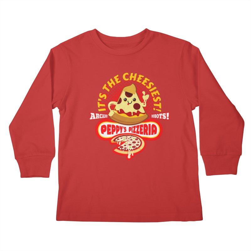 Peppy's Pizzeria Kids Longsleeve T-Shirt by devildino's Artist Shop