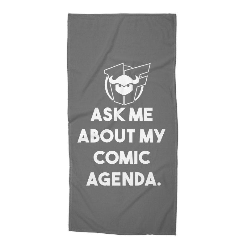 Ask Me About it Accessories Beach Towel by Devil's Due Entertainment Depot