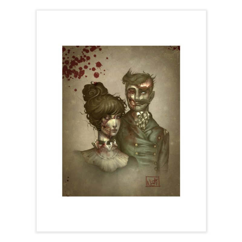 Zombie Portraits by Nei Ruffino Home Fine Art Print by Devil's Due Entertainment Depot