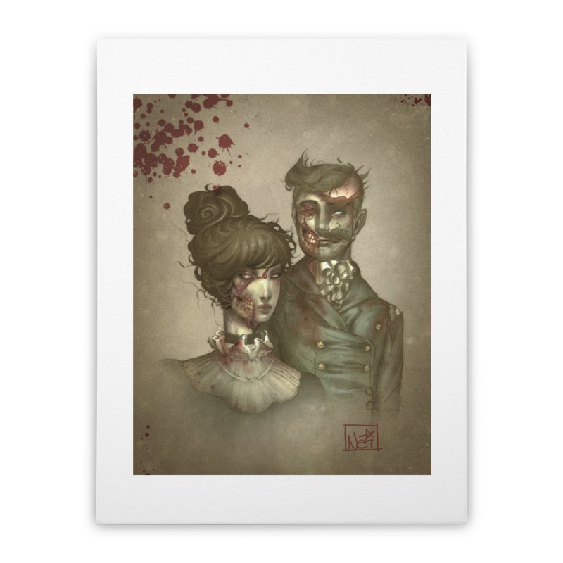 Zombie Portraits by Nei Ruffino Home Stretched Canvas by Devil's Due Comics