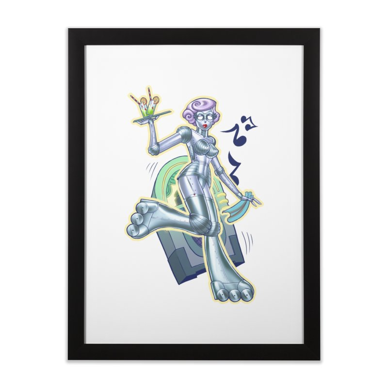 Robot Girlie by Nei Ruffino Home Framed Fine Art Print by Devil's Due Entertainment Depot