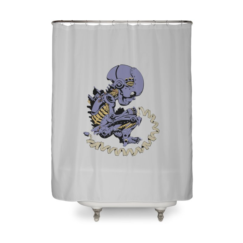 Robot Babe by Phil Hester Home Shower Curtain by Devil's Due Comics