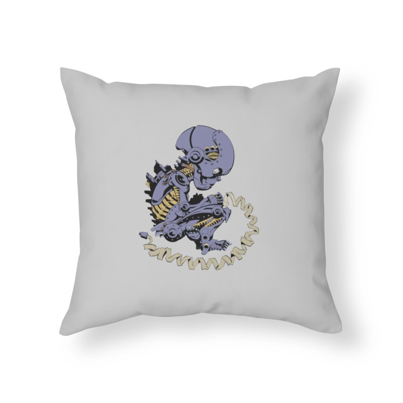 Robot Babe by Phil Hester Home Throw Pillow by Devil's Due Entertainment Depot