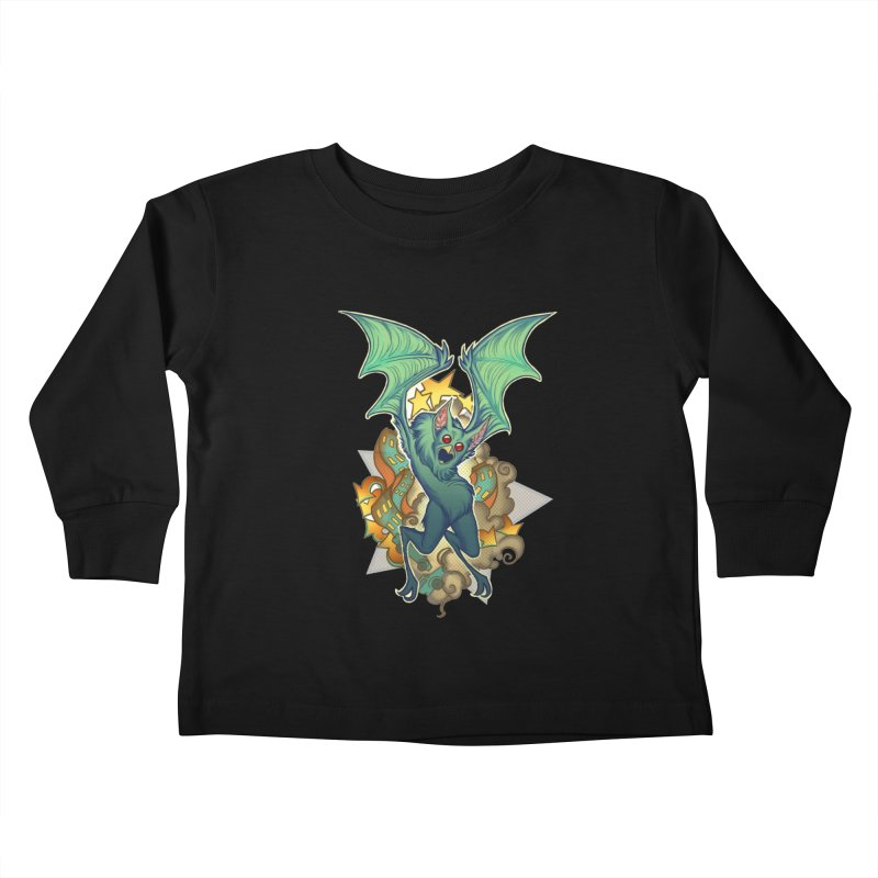 The Bat Man by Nei Ruffino Kids Toddler Longsleeve T-Shirt by Devil's Due Entertainment Depot