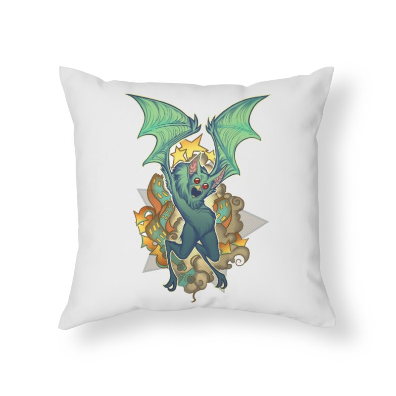 The Bat Man by Nei Ruffino Home Throw Pillow by Devil's Due Entertainment Depot