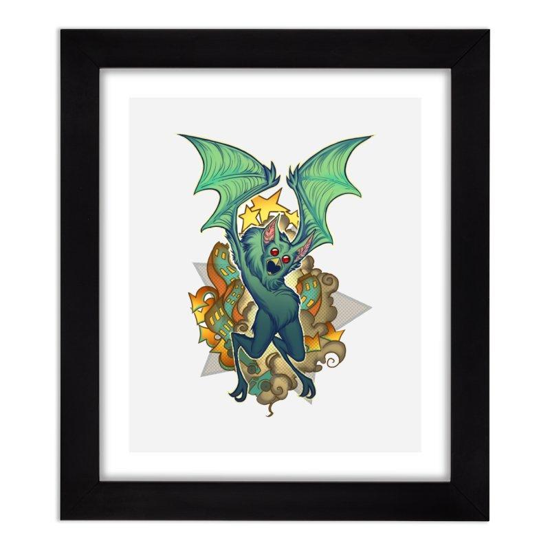 The Bat Man by Nei Ruffino Home Framed Fine Art Print by Devil's Due Comics