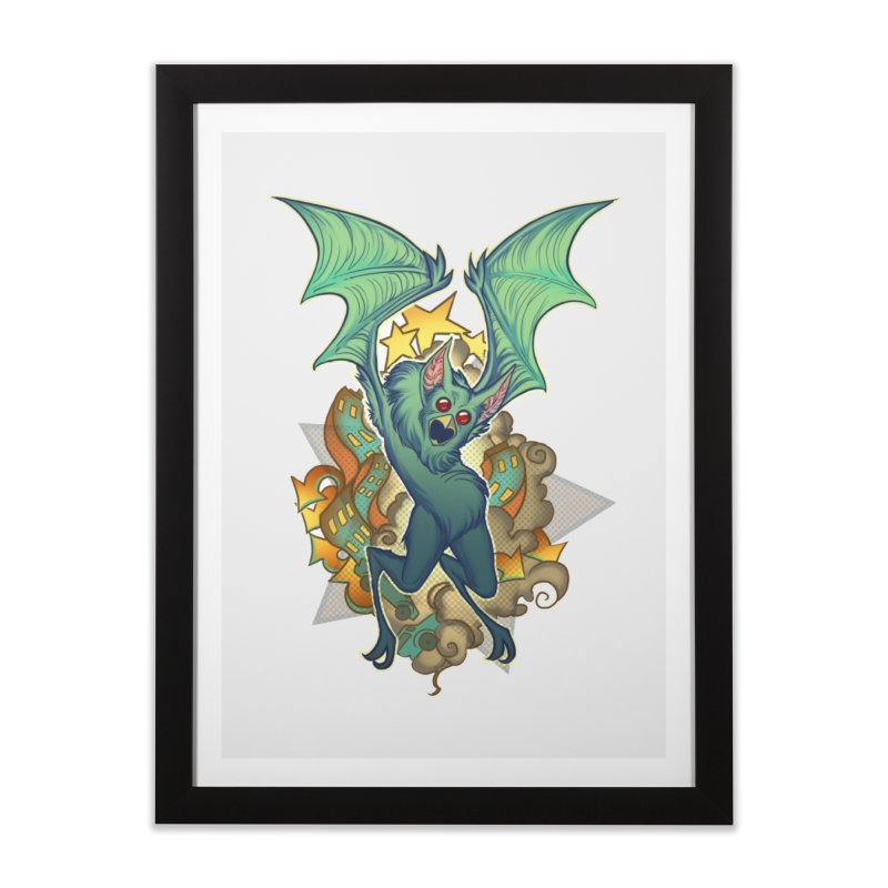 The Bat Man by Nei Ruffino Home Framed Fine Art Print by Devil's Due Entertainment Depot