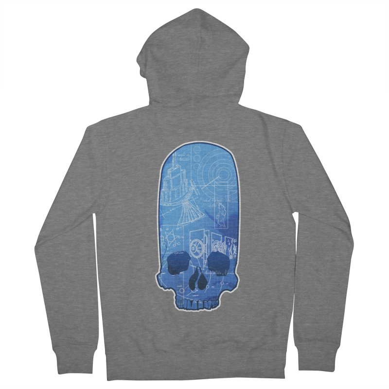 Archeopunk - Paracus Skulls Men's French Terry Zip-Up Hoody by Devil's Due Comics