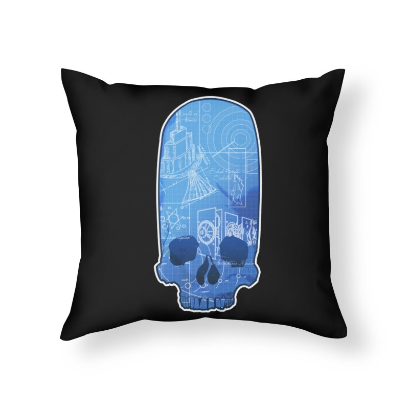 Archeopunk - Paracus Skulls Home Throw Pillow by Devil's Due Comics