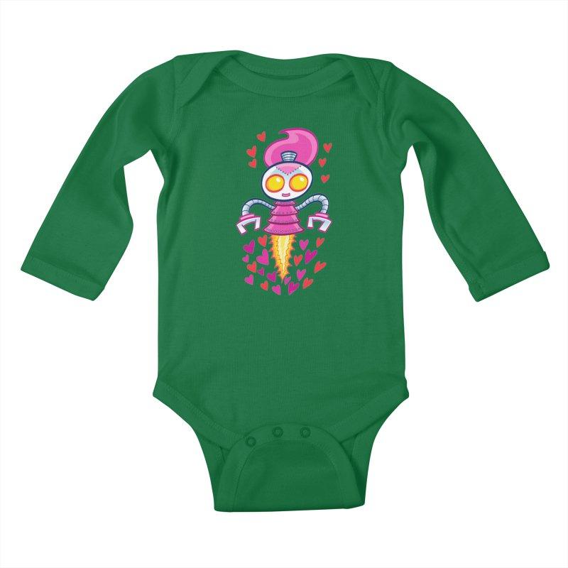 Robot Girlie by Art Baltazar Kids Baby Longsleeve Bodysuit by Devil's Due Entertainment Depot