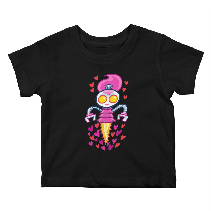 Robot Girlie by Art Baltazar Kids Baby T-Shirt by Devil's Due Entertainment Depot