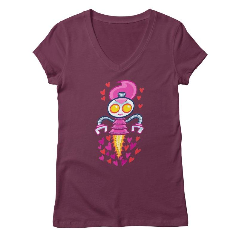 Robot Girlie by Art Baltazar Women's V-Neck by Devil's Due Comics