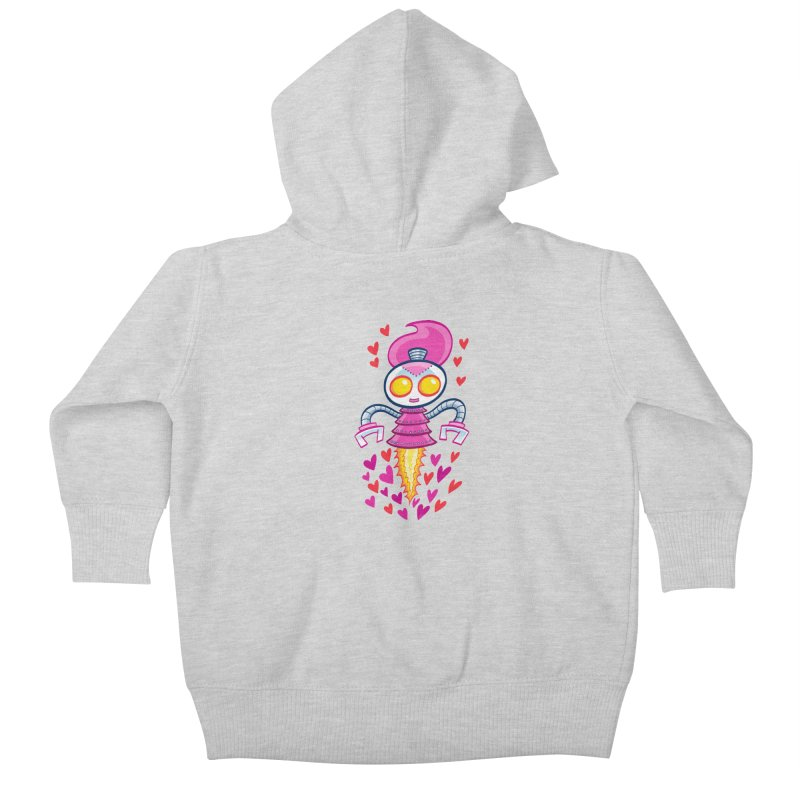 Robot Girlie by Art Baltazar Kids Baby Zip-Up Hoody by Devil's Due Entertainment Depot