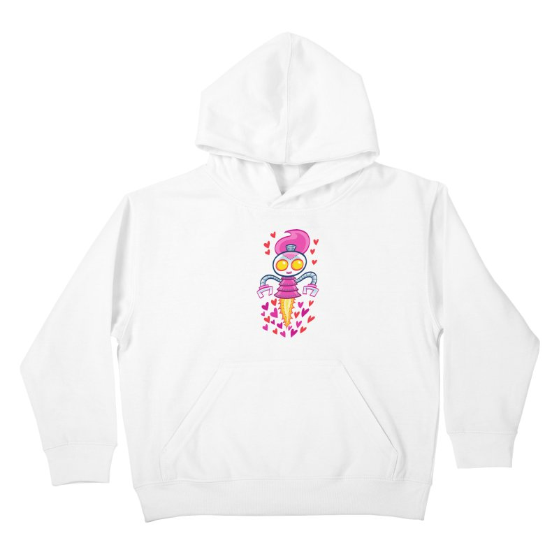 Robot Girlie by Art Baltazar Kids Pullover Hoody by Devil's Due Entertainment Depot