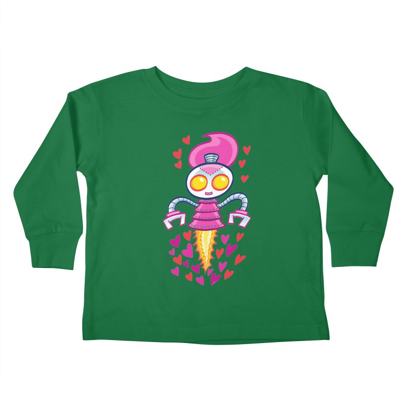 Robot Girlie by Art Baltazar Kids Toddler Longsleeve T-Shirt by Devil's Due Entertainment Depot