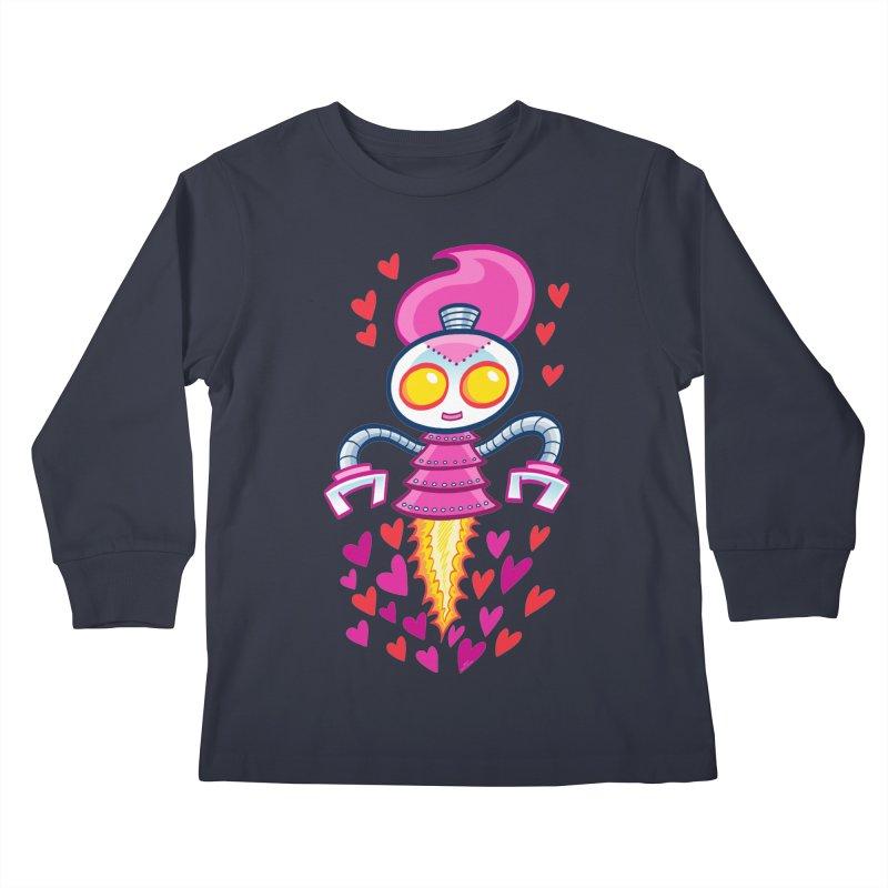 Robot Girlie by Art Baltazar Kids Longsleeve T-Shirt by Devil's Due Comics
