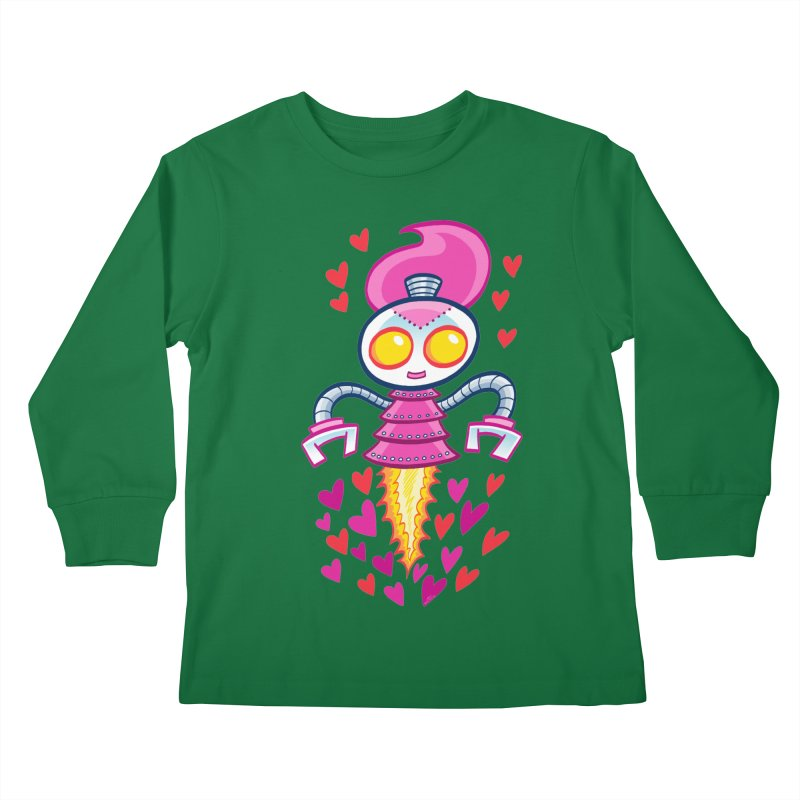 Robot Girlie by Art Baltazar Kids Longsleeve T-Shirt by Devil's Due Entertainment Depot