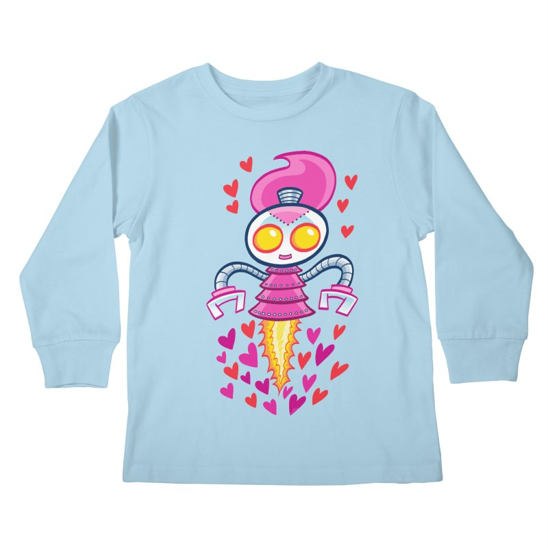 Robot Girlie by Art Baltazar Kids Longsleeve T-Shirt by Devil's Due Entertainment Depot
