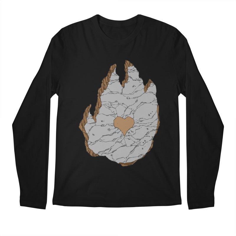 Footprint Heart by Phil Hester Men's Longsleeve T-Shirt by Devil's Due Comics