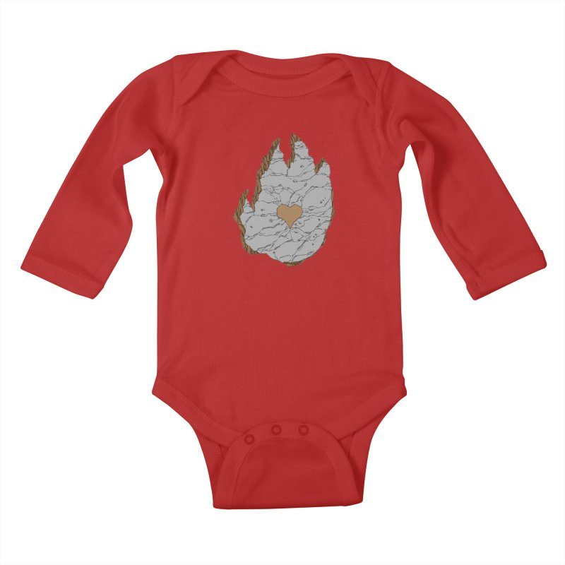 Footprint Heart by Phil Hester Kids Baby Longsleeve Bodysuit by Devil's Due Entertainment Depot