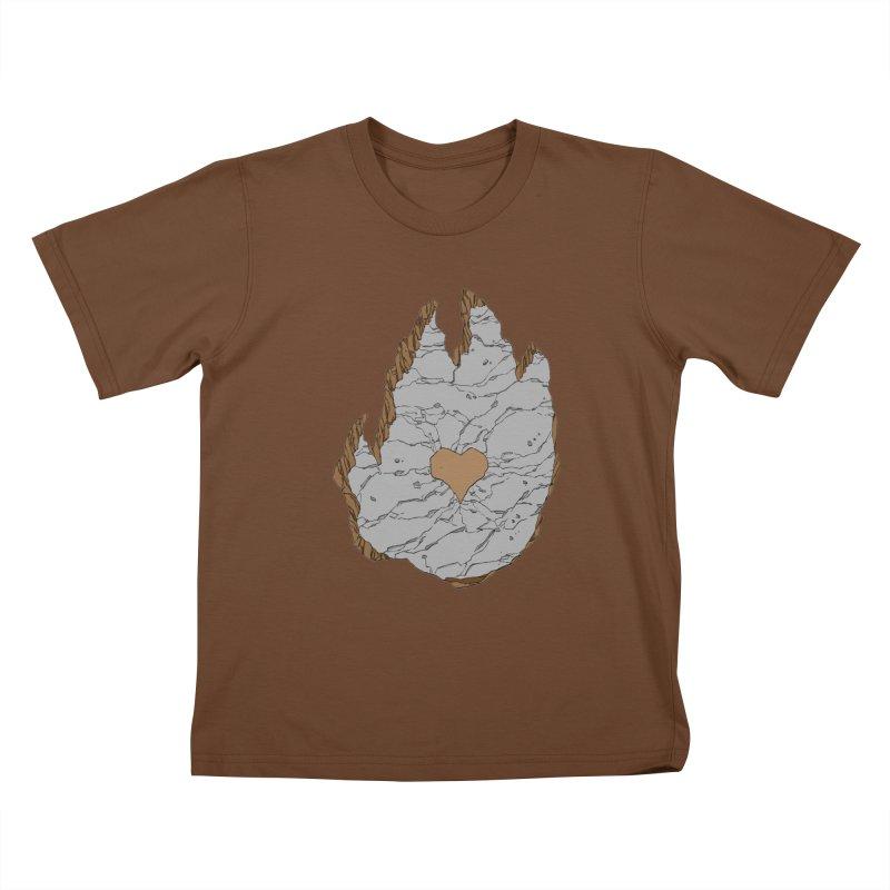 Footprint Heart by Phil Hester Kids T-shirt by Devil's Due Entertainment Depot