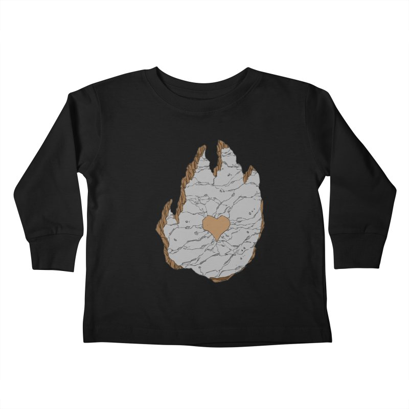 Footprint Heart by Phil Hester Kids Toddler Longsleeve T-Shirt by Devil's Due Entertainment Depot